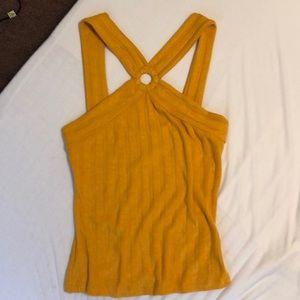 Free people mustard yellow halter top